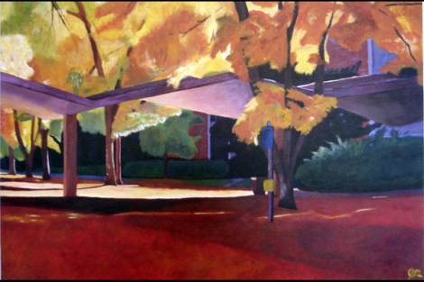 """Clark Forum at Sunset, Ft. Collins, CO Acrylic on Canvas, 2007 30"""" x 20"""""""
